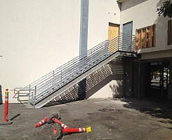 Supports, Stairs and Handrail