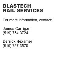 Blastech Rail Services Contacts