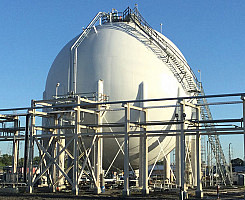 Butene-1 Storage Sphere in Baytown, TX