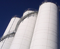 Plastic Resin Storage Silos
