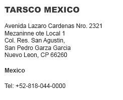 Tarsco Mexico
