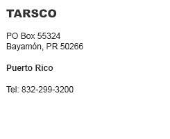 Tarsco Puerto Rico