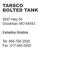 Tarsco Bolted Tank Goodman