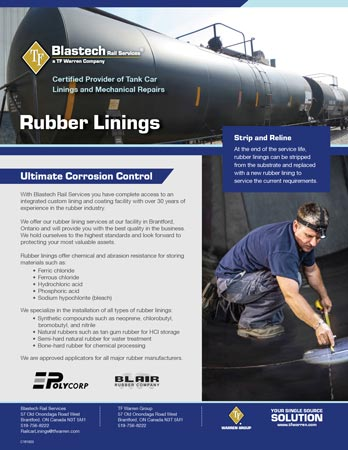 Railcar Rubber Linings