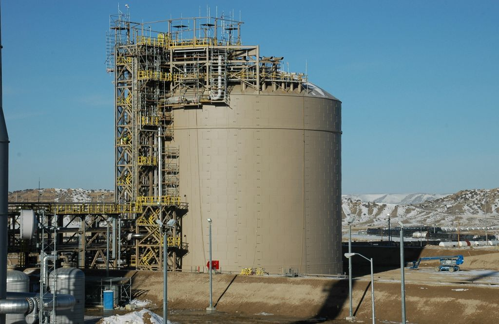 Four Tanks Provided at Ammonia Plant Rock Springs, WY