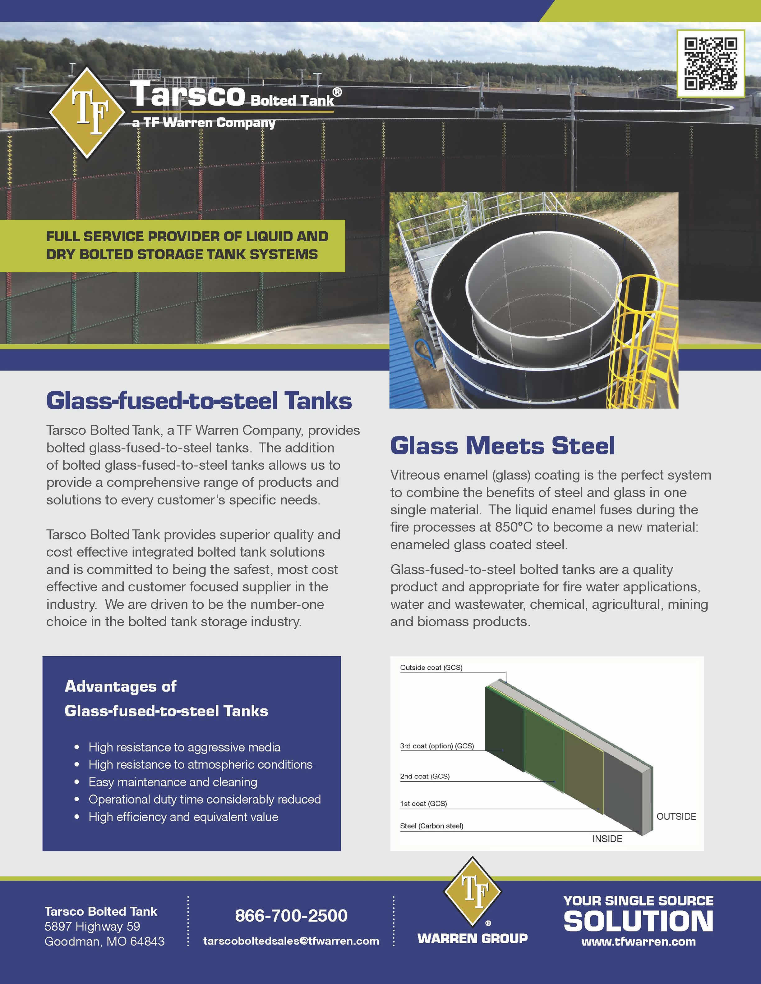 Glass-fused-to-steel Tanks