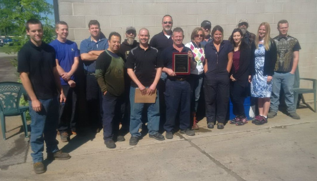 Brant Industrial Roll Employees Receive STI/SPFA 2016 Awards
